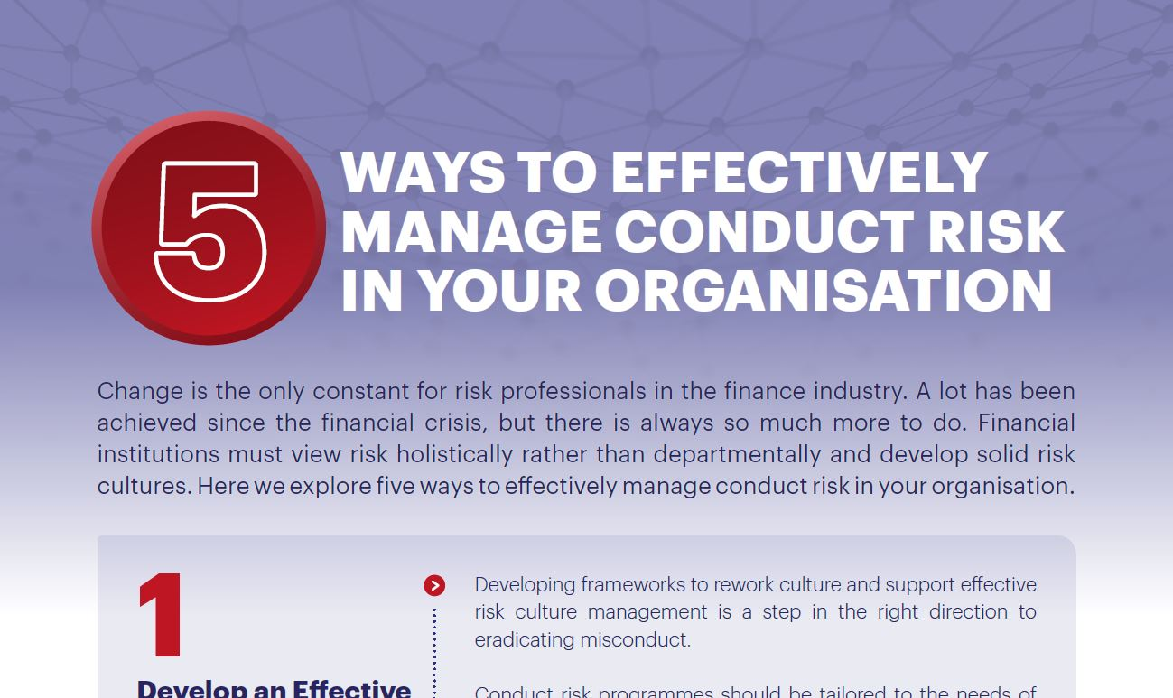 Download the Report - 5 Ways to Effectively Manage Conduct Risk in Your Organisation