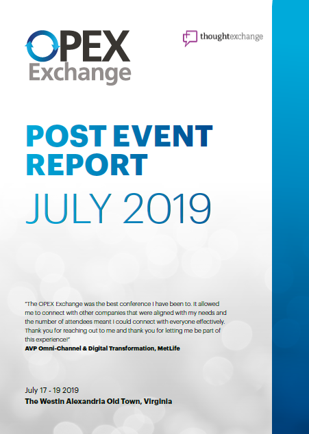 OPEX Exchange 2019 East Coast - Post-Event Report