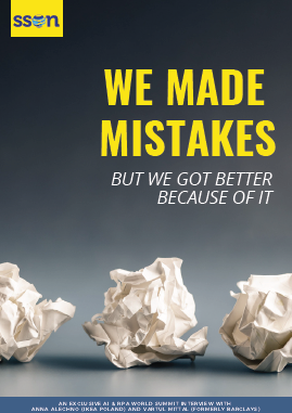 We Made Mistakes - And Got Better Because of It!  Lessons learned from time at Barclay's and IKEA.