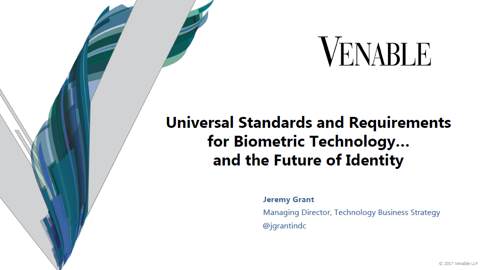 Universal Standards and Requirements for Biometric Technology and the Future of Identity