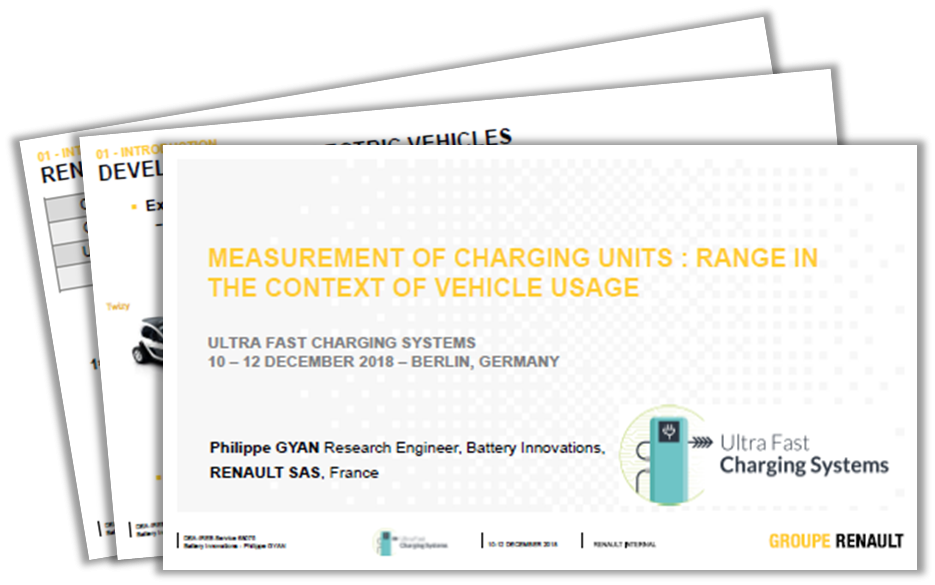 Renault Exclusive Past Presentation on Measurement of Charging Units: Range in The Context of Vehicle Usage