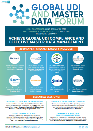 Global UDI and Master Data Forum: 2020 Programme
