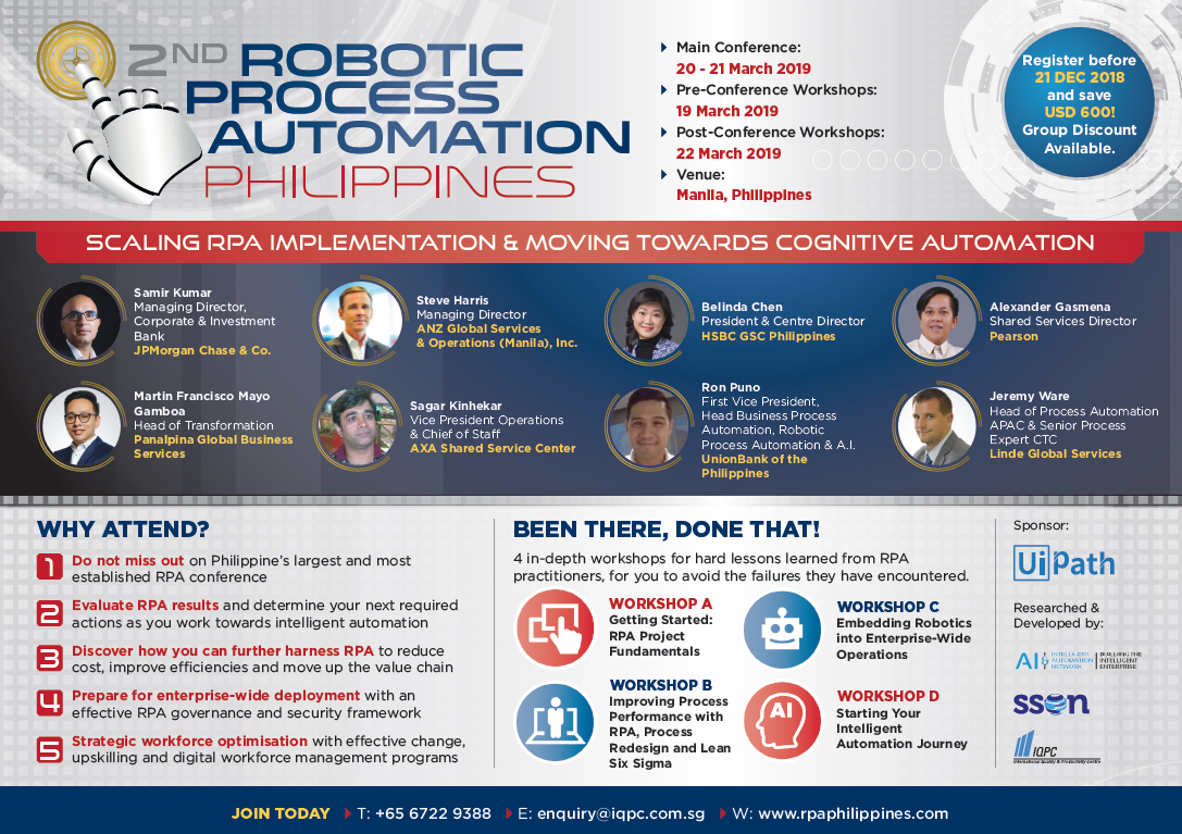 2nd Robotic Process Automation Philippines Brochure