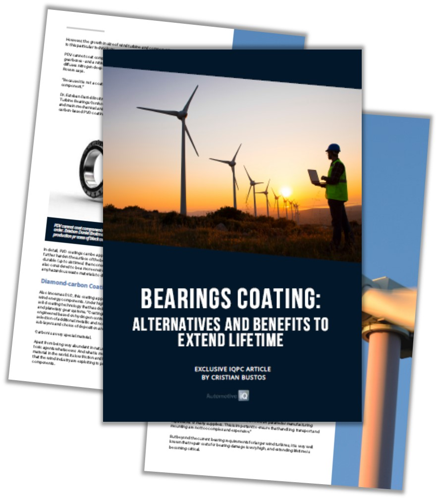 Report on Bearings Coating: Alternatives and Benefits to Extend Lifetime
