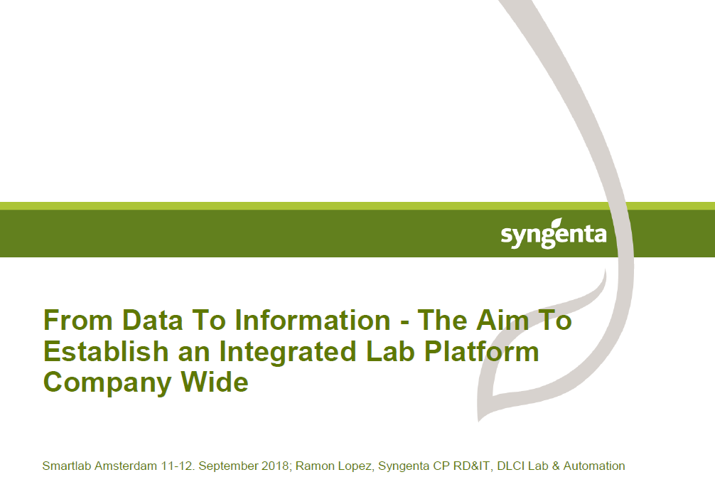 How to establish a company-wide integrated lab platform