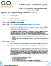 View the 2020 CLO Exchange Virtual Agenda