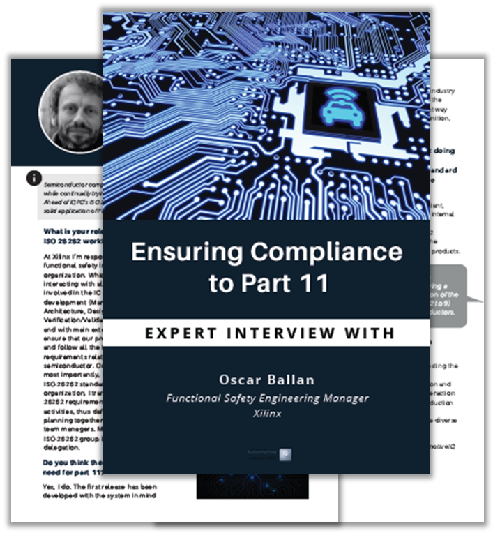 Interview on how to comply to ISO26262 Part 11 for Semiconductors