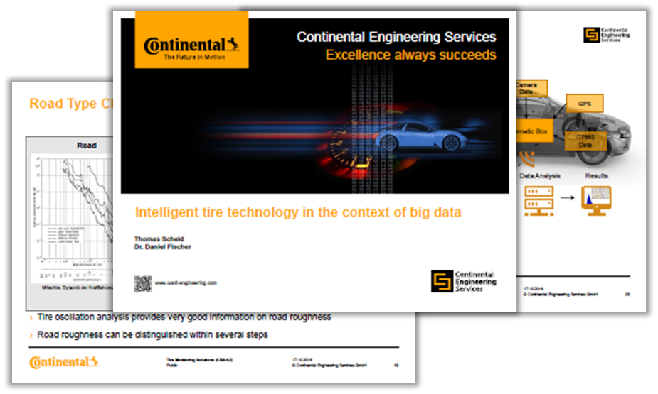 Presentation by Continental on intelligent tire technology in the context of big data