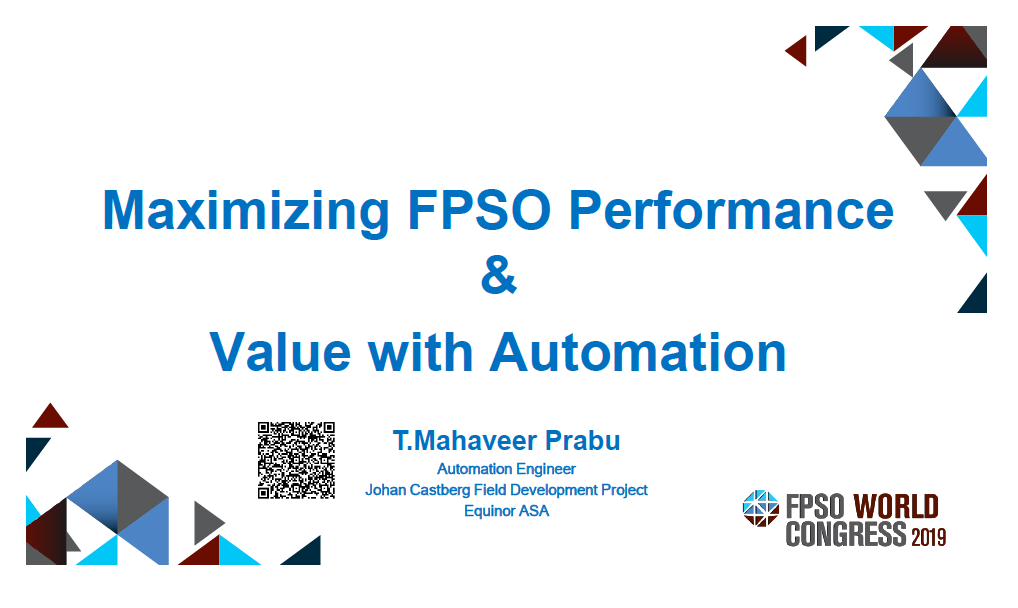 Maximising FPSO Performance & Value with Automation