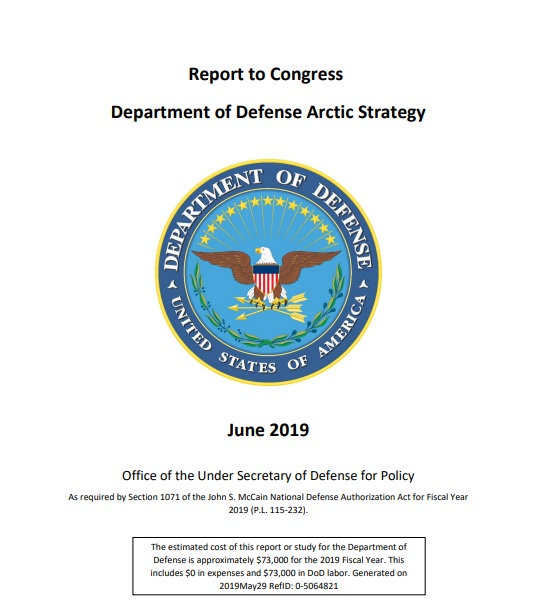 U.S. Department of Defense Arctic Strategy