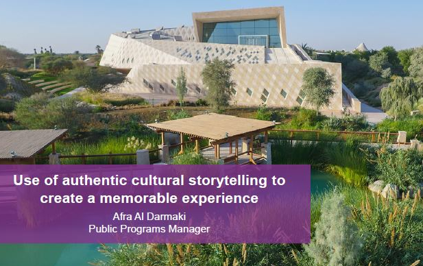 Use of authentic cultural storytelling to create a memorable experience