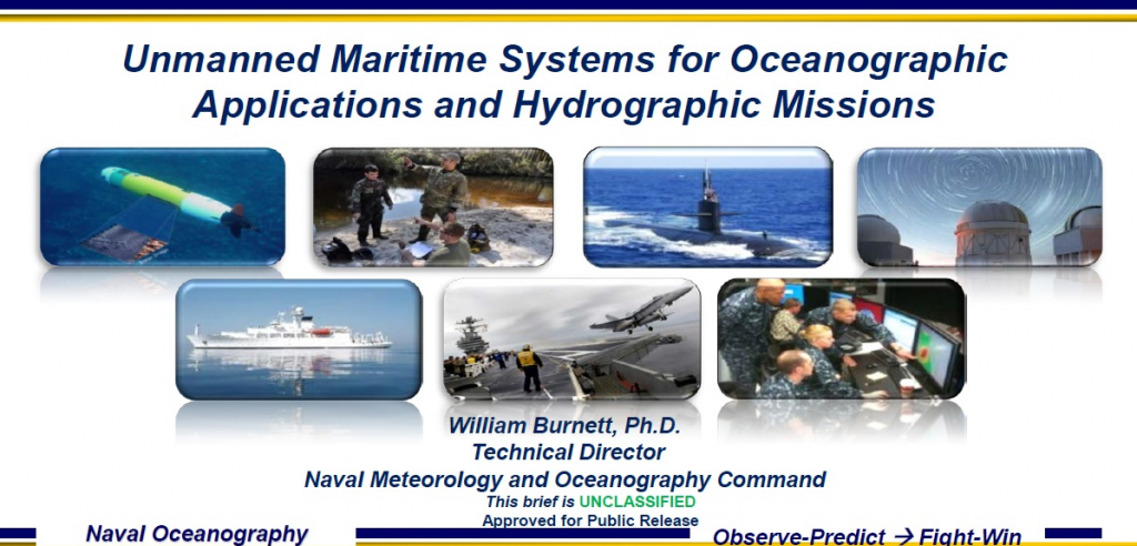 Unmanned Maritime Systems for Oceanographic Applications and Hydrographic Missions
