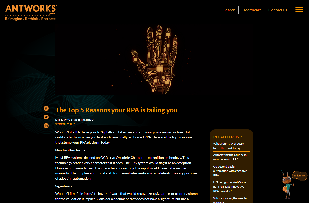 The Top 5 Reasons your RPA is failing you