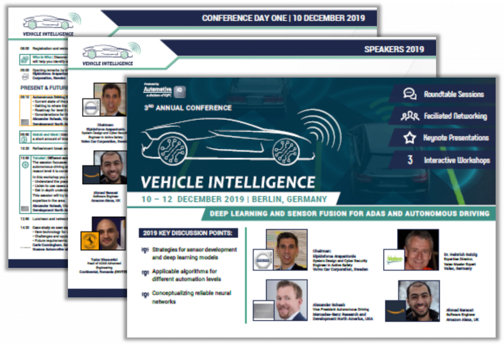 Download the Agenda of the 3rd International Conference for Vehicle Intelligence 2019