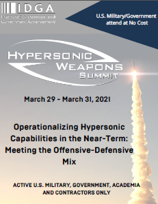 Hypersonic Weapons 2021 Preliminary Agenda