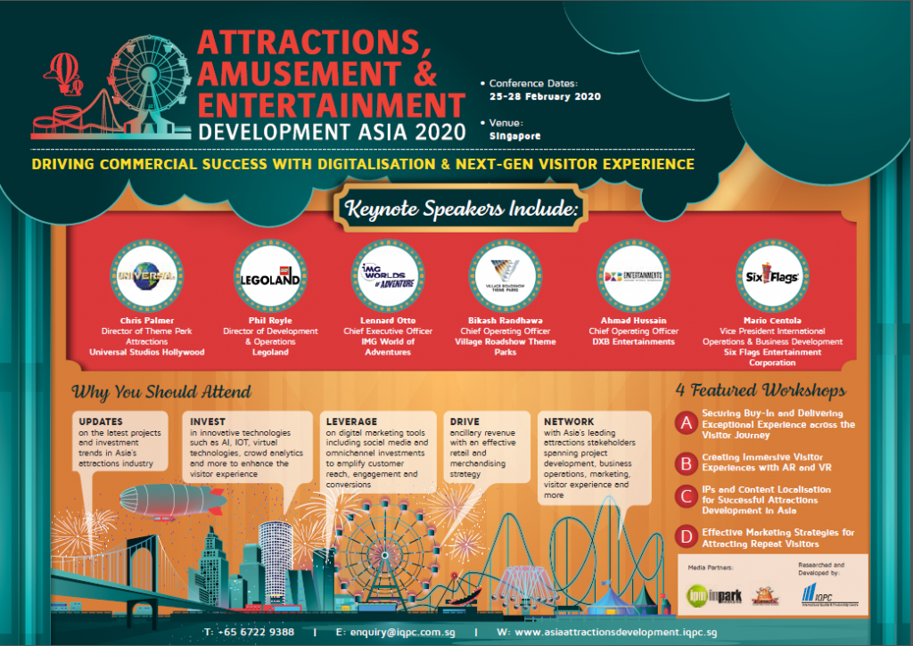 View the Event Guide - Attractions, Amusement & Entertainment Development Asia 2020 Agenda