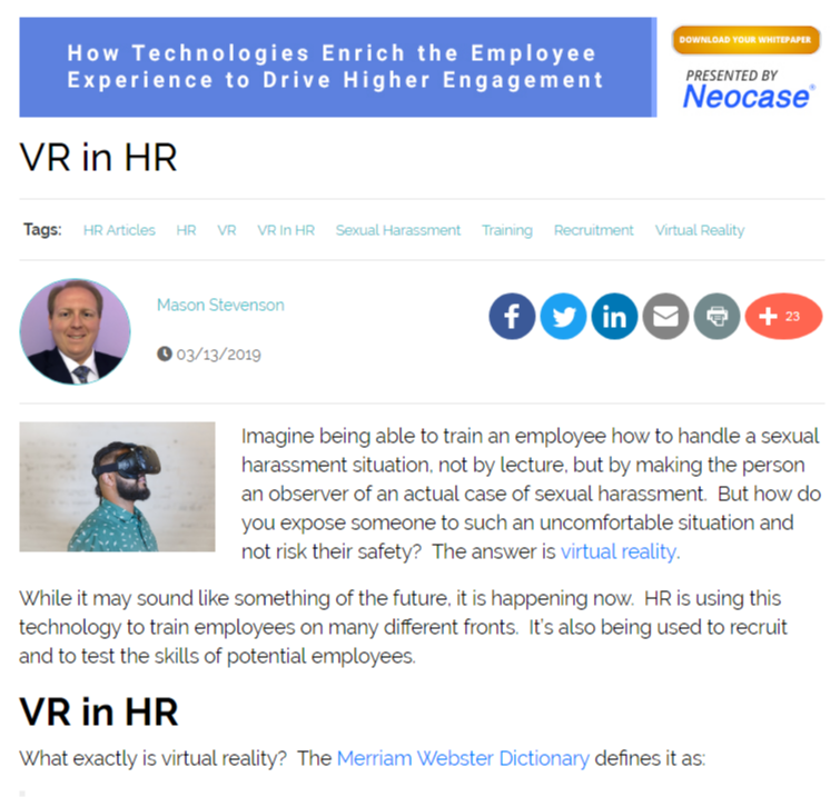 VR in HR
