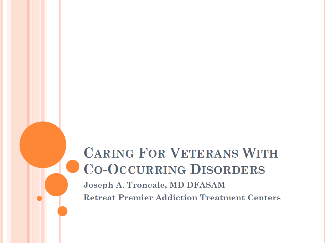 Caring for Veterans with Co-occurring Disorders