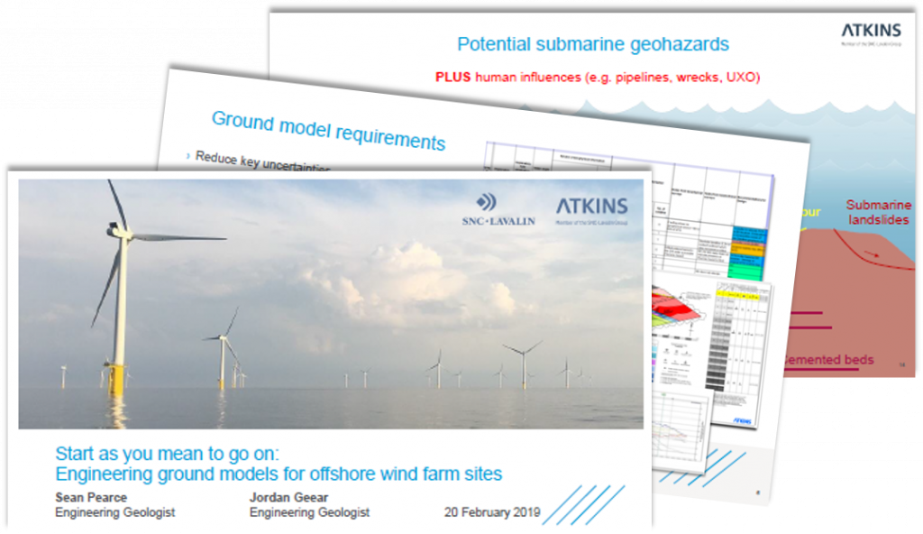 Atkins Past Presentation: Engineering ground models for offshore wind farm sites