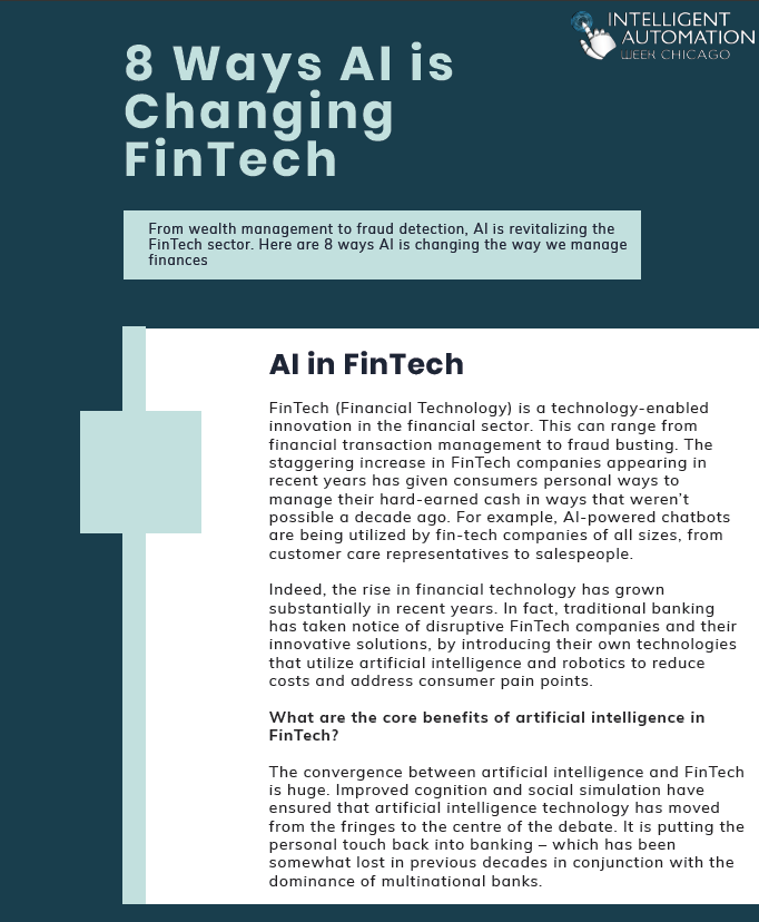 8 Ways Artificial Intelligence is Changing FinTech