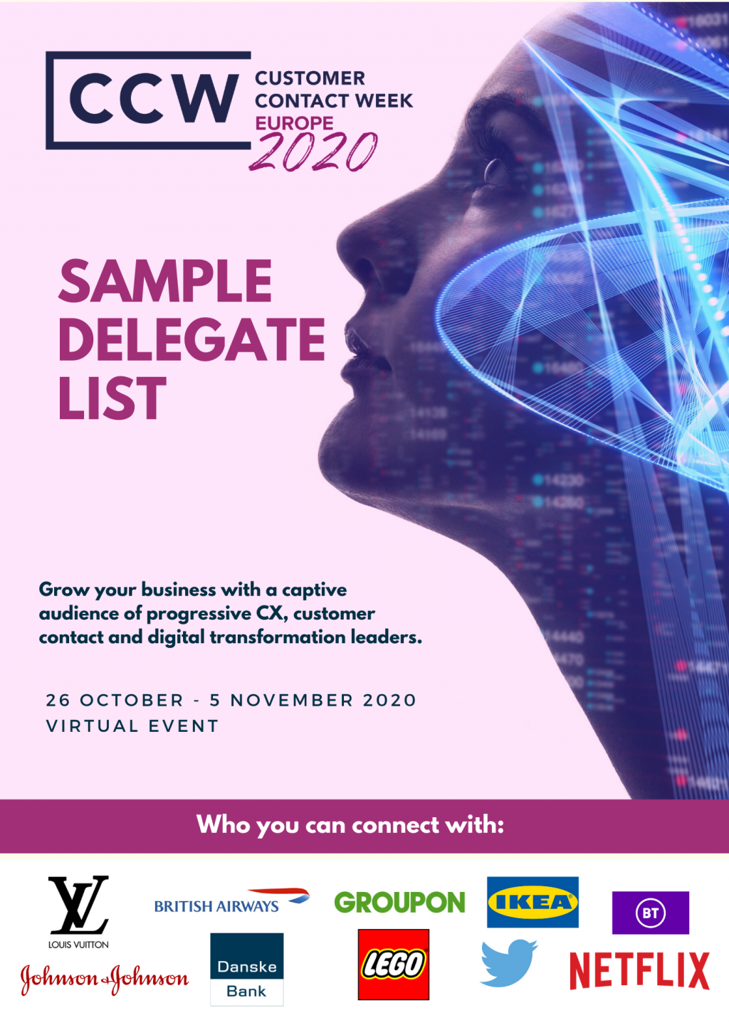 Sample Delegate List - Who you can connect with