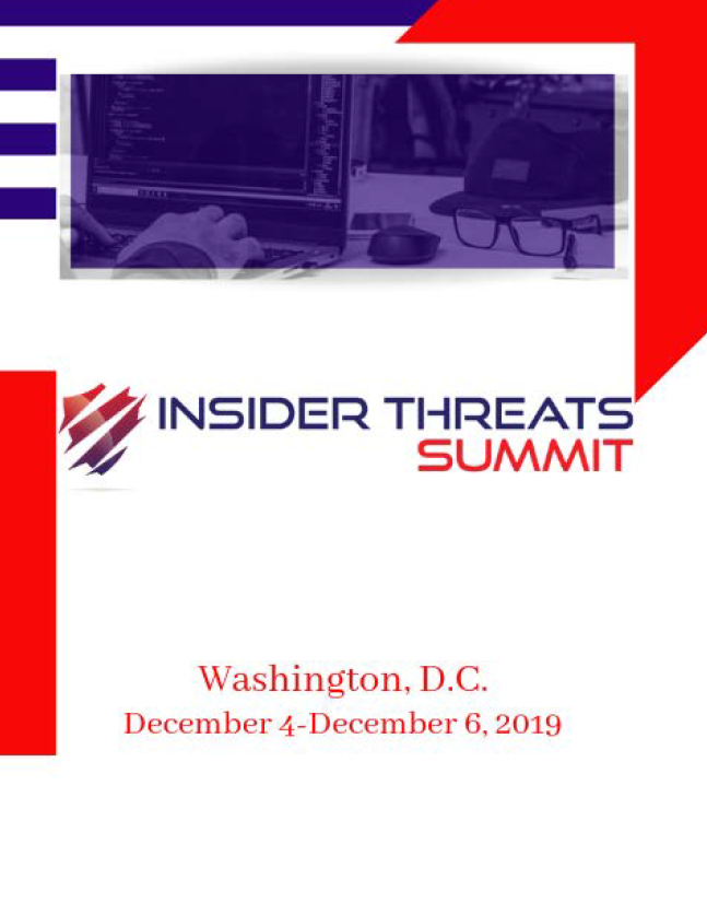 Insider Threats Summit Preliminary Agenda