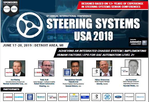 6th International Conference Steering Systems USA 2019