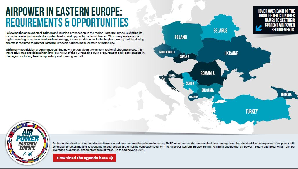 Interactive Map: Requirements & Opportunities for Air Power in Eastern Europe
