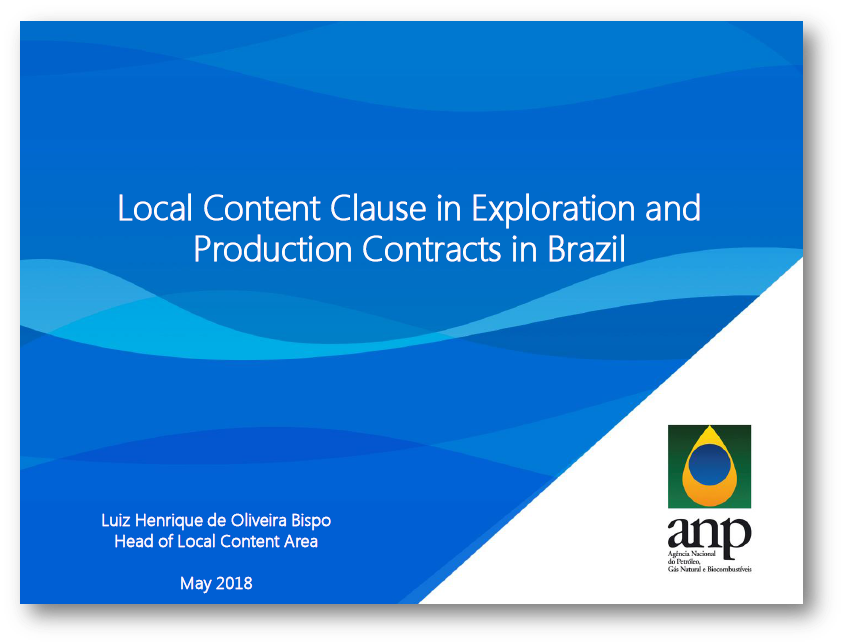 Local Content Clause in the Exploration and Production Contracts in Brazil