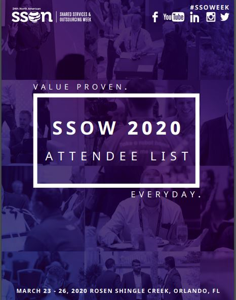 SSOW 2020 Current Attendee Snapshot for Solution Providers