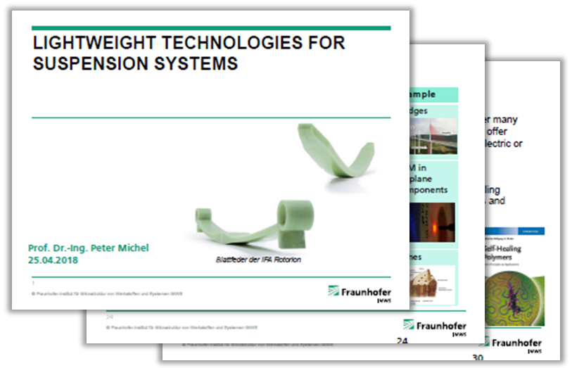 Presentation on lightweight technologies for suspension systems