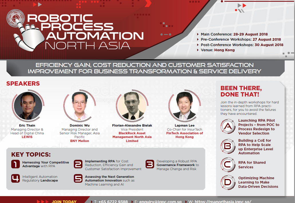 RPA North Asia 2018 Brochure