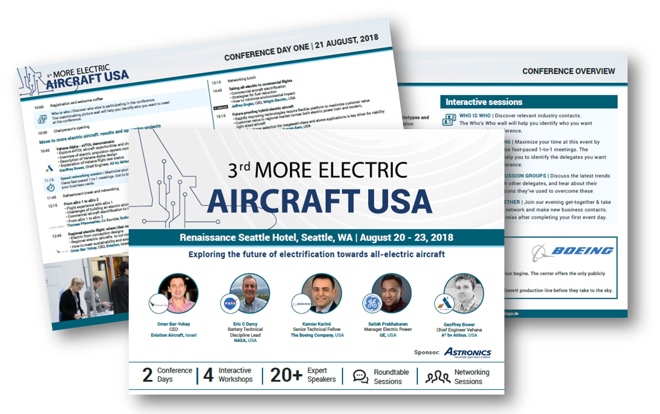 Agenda More Electric Aircraft USA