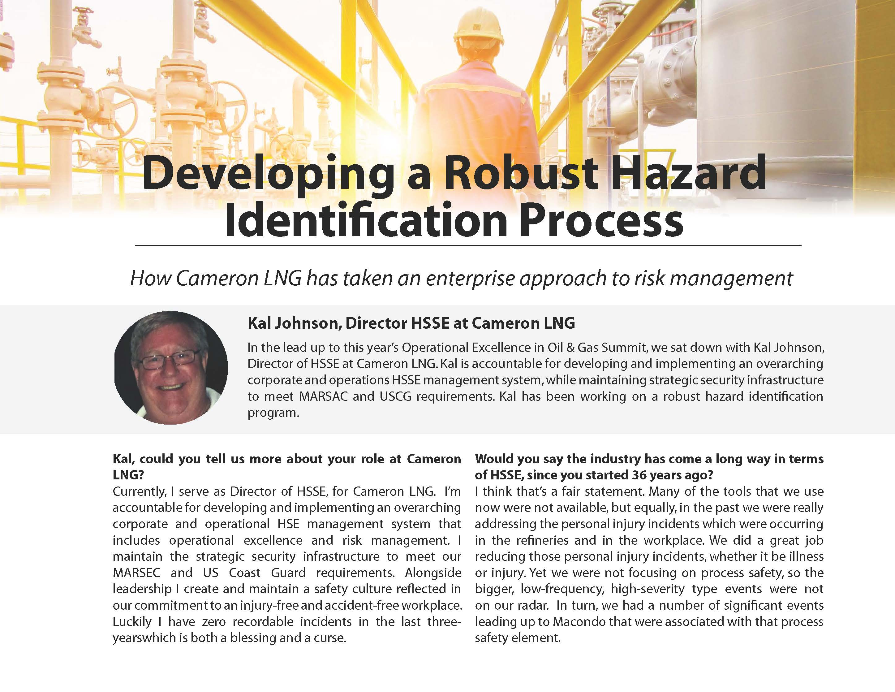 Developing a Robust Hazard Identification Process