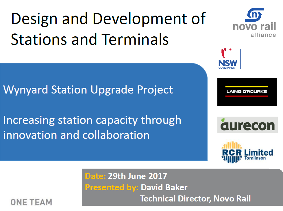 Wynyard Station Upgrade Project: Increasing station capacity through innovation and collaboration
