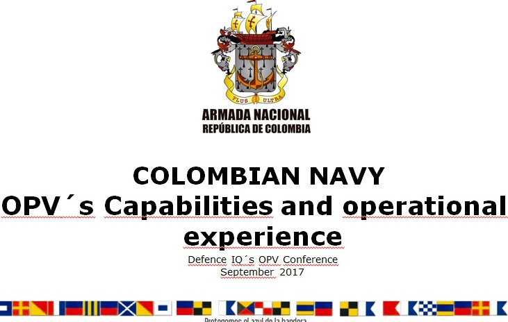 Colombia's operational and strategic experiences onboard the OPV