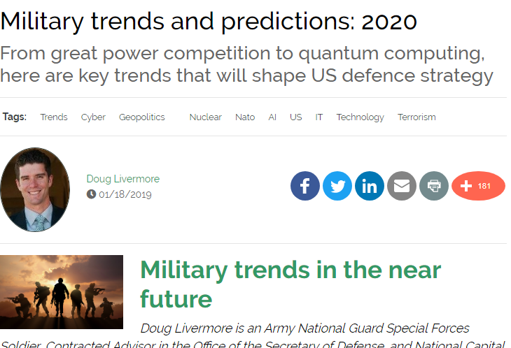 Military trends and predictions: 2020