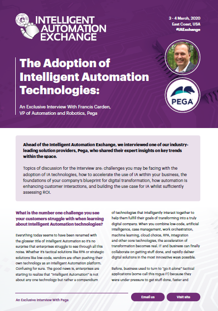 The Adoption of Intelligent Automation Technologies