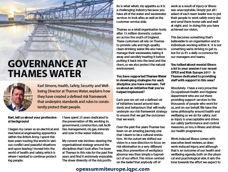 Governance at Thames Water