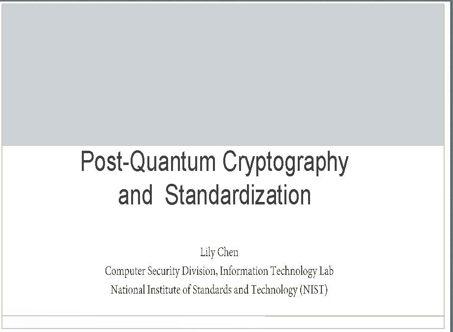 Post-Quantum Cryptography and Standardization