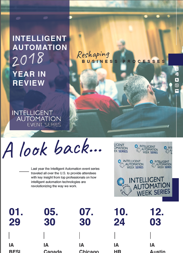 Intelligent Automation Event Series 2018: Year in Review