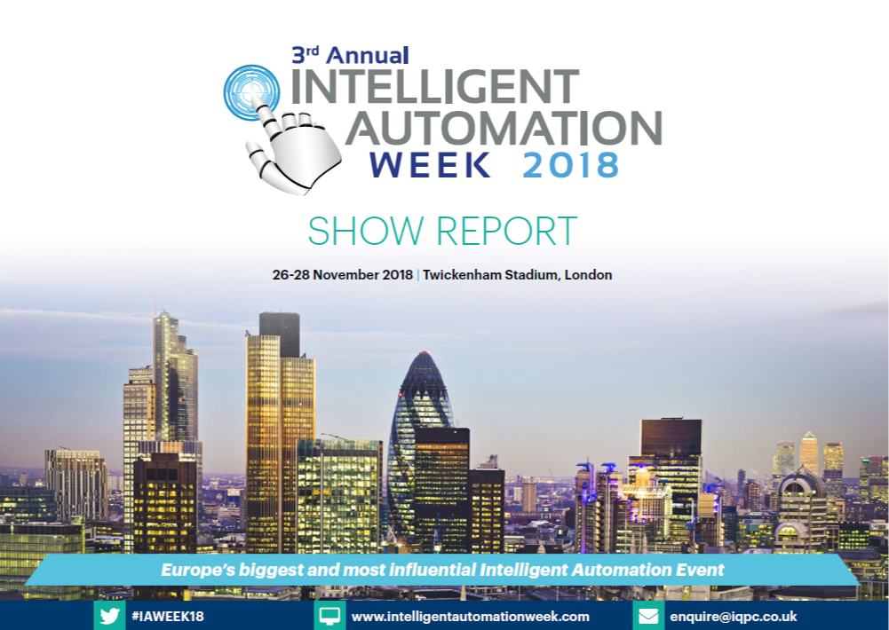 Intelligent Automation 2019 - 2018 IA Week show report