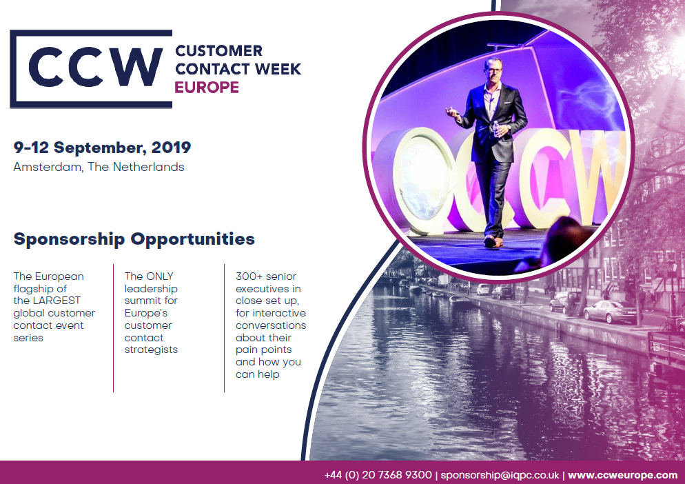 CCW Europe 2019 exclusive - Sponsorship Pack