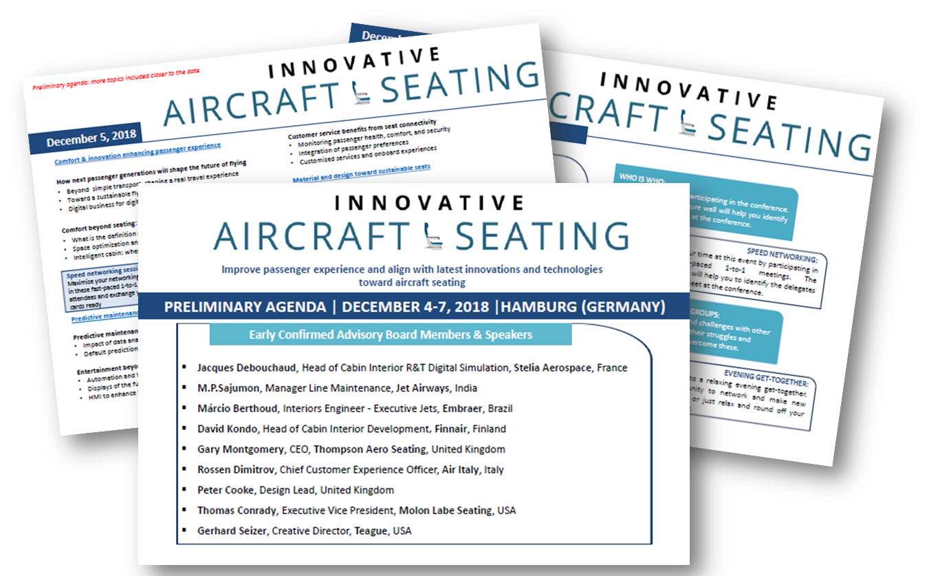 9th Annual Innovative Aircraft Seating Agenda 2018