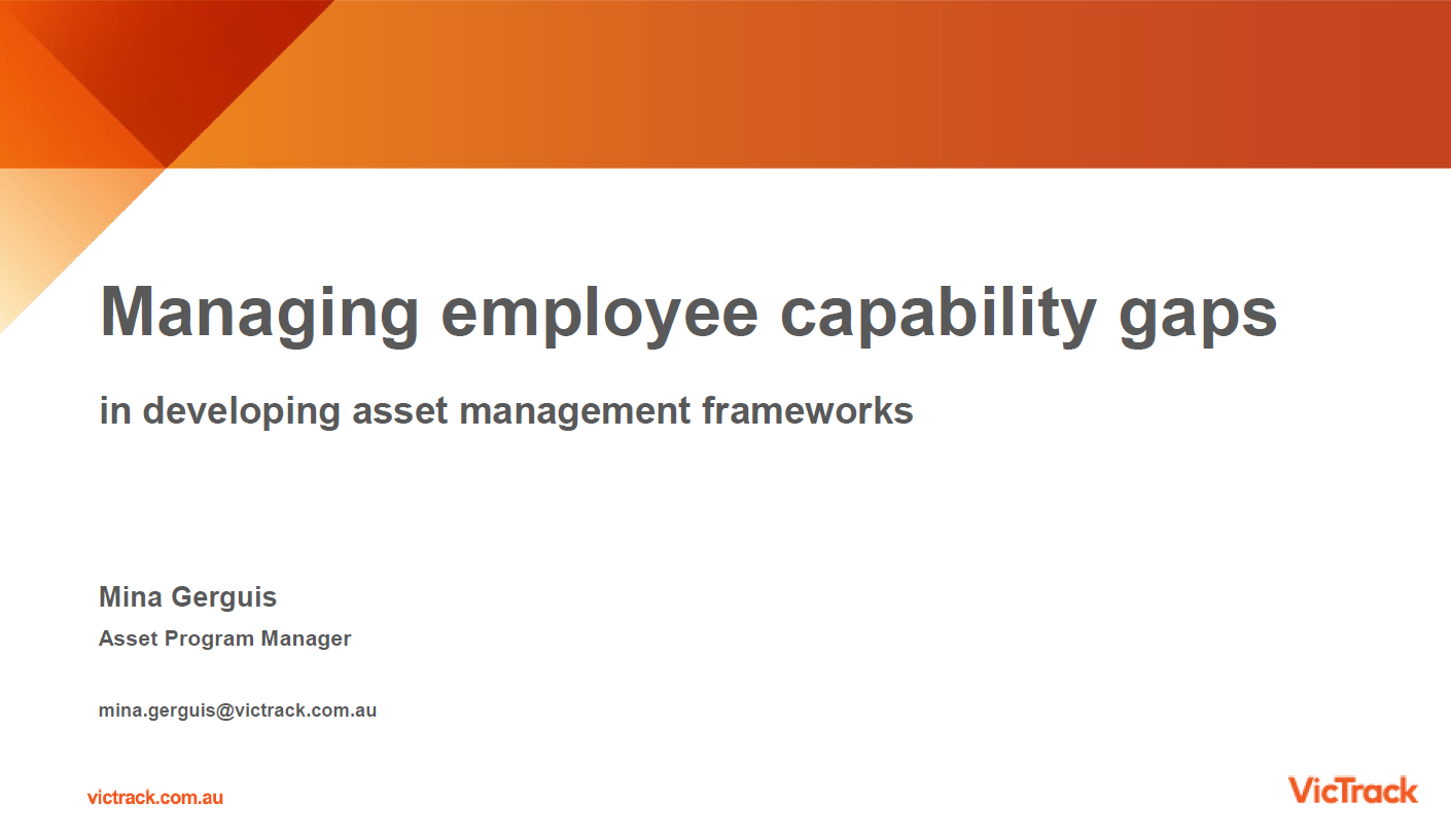 Managing Employee Capability Gaps in Developing Asset Management Frameworks