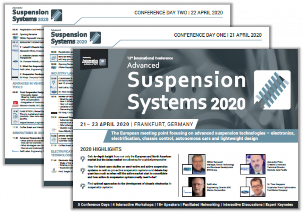 Conference Agenda - Advanced Automotive Suspension Systems 2020