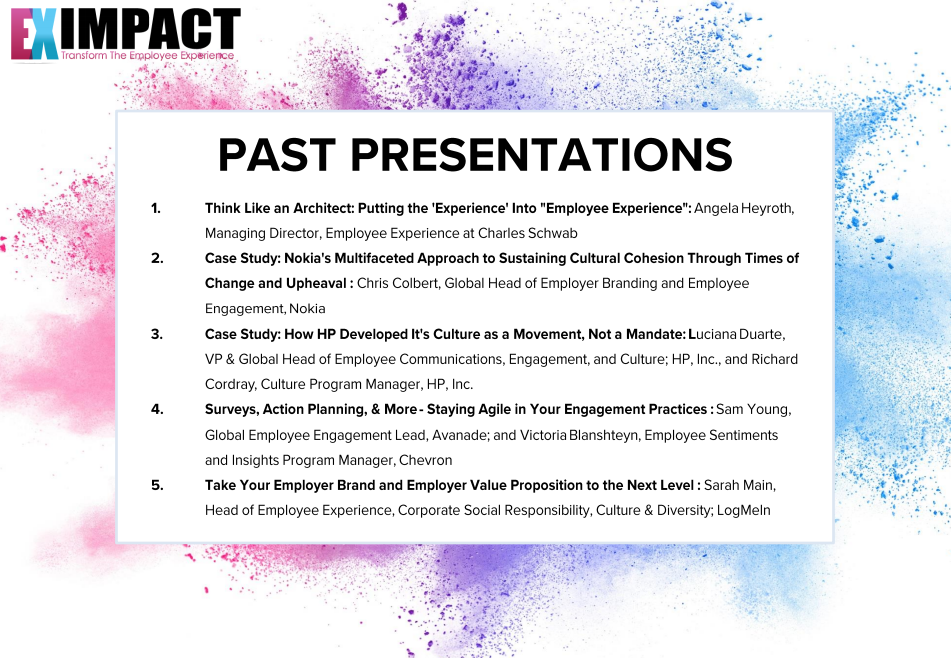 EX Impact - Check out Past Conference Presentations!