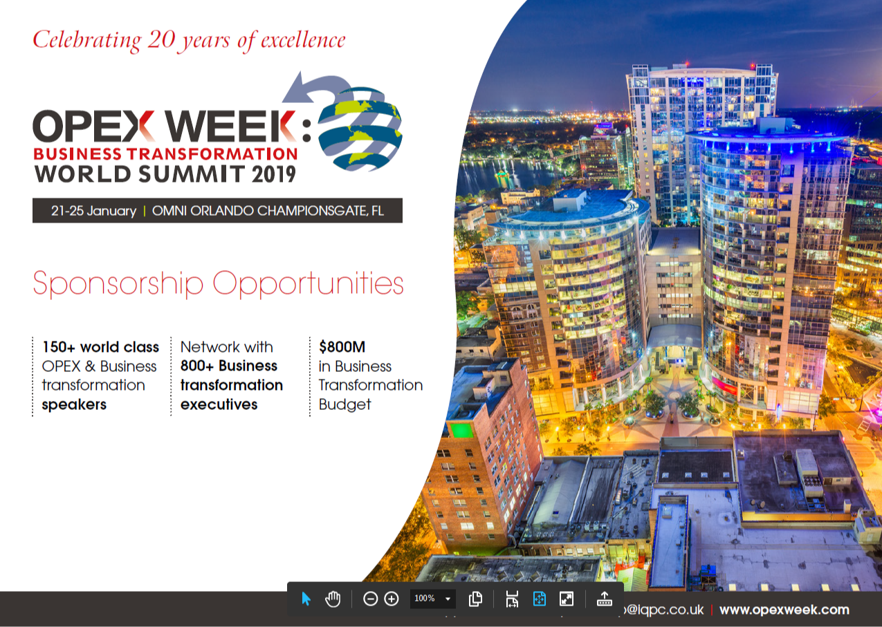 OPEX Week 2019 - solution providers information pack