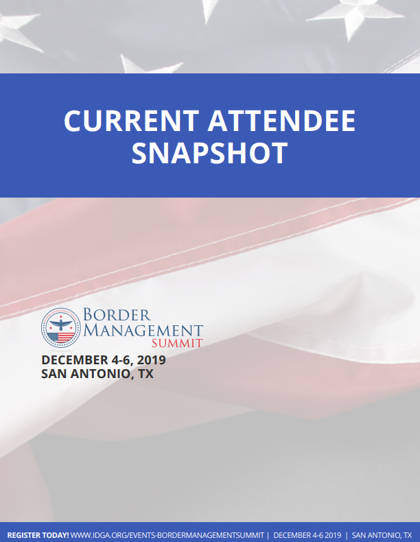 Border Management South 2019: Current Attendee Snapshot