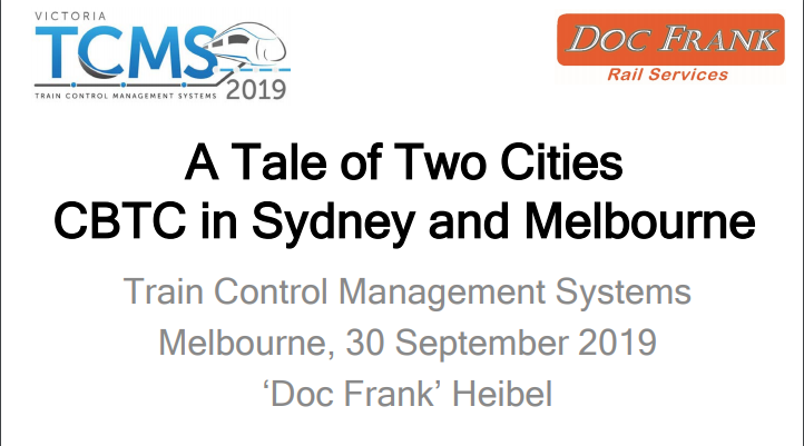 A Tale of Two Cities: Communications-Based Train Control in Sydney and Melbourne